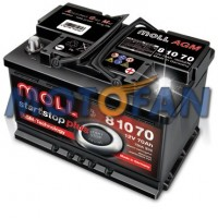 Akumulator MOLL 70Ah - 760A - Start/Stop AGM